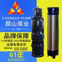 淄博颜山牌系列QJ(R)型高效节能地热取水供暖井用热水潜水电泵厂家直销