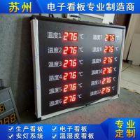 苏州琳卡LED生产看板多点温度采集系统温湿度显示屏车间看板