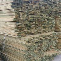 进口户外古建樟子松地板料,樟子松防腐木花架材