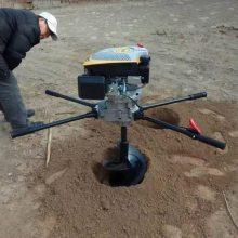 志成生产四冲程汽油电线杆挖坑机225大功率通讯杆打眼机树木种植机