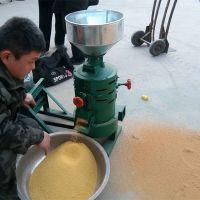 谷子专用脱皮碾米机 圣鲁立式磨米机