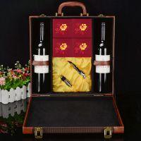 豪美红酒盒4支红酒带酒杯红酒盒月饼盒中秋现货定做茶叶礼盒包装