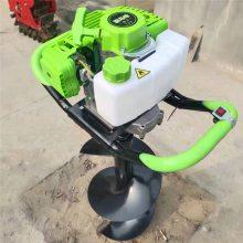蚌埠手提便携式植树打洞机 启航新款水泥杆打坑机 带轮易移动的手推植树挖坑机