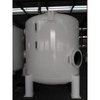 定做直径2米 米白色面漆 碳钢衬胶过滤桶