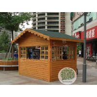 上海厂家欧式移动防腐木岗亭 成品 加工