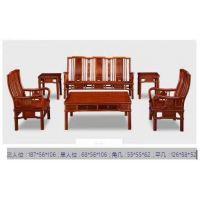 苏作花梨木刺猬紫檀简约明式沙发5件套名琢世家