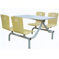 学校工厂不锈钢餐桌椅 快餐店连体餐桌椅组合批发