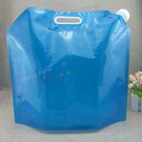 折叠水袋定制厂家 透明液体吸嘴自立袋 5L 10L折叠饮用水壶水桶野餐水袋