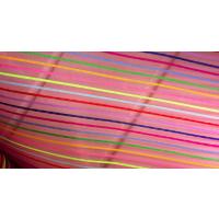 涤纶网尼龙十彩条网化妆袋纱网彩文具网眼布
