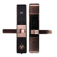 杭州 ZTE中兴智能锁533 指纹锁 家用密码锁 时尚 滑盖式 金色
