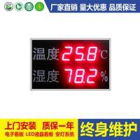 工厂车间温湿度显示屏 4-20mA输入