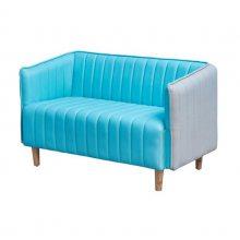 时尚现代休闲沙发,双人位扶手卡座沙发