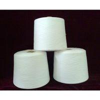 仿大化涤纶纱,电清无接,本白环锭纺45支