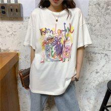 广州库存服装 17夏季女装t恤便宜女式打底衫清仓 3-5元服装批发厂家
