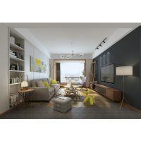 简单清爽的北欧风格,鲁能泰山7号洋房大平层装修