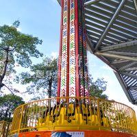 大型刺激游乐设备跳楼机,金博20米旋转跳楼机价格
