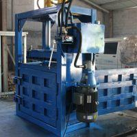 富兴厂家 定做 高效能液压立式纸屑打包机 可乐瓶易拉罐压扁机