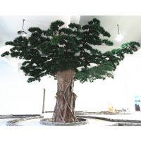 哪里有仿真松树卖 定做人造松树 玻璃钢包柱子仿真树