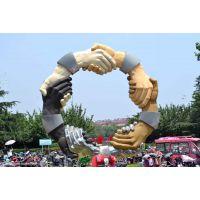 厂家直销握手雕塑-诚信景观雕塑定制-工厂装饰握手摆件