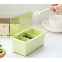 METKA多功能调味盒手柄调味盒(3格)竹纤维塑料多功能调味盒