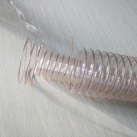 pu钢丝软管(通风排气伸缩管)上海聚氨酯钢丝软管(耐高温除尘波纹管)110mm*0.6mm鹏跃塑胶软