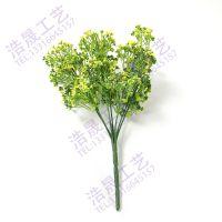 东莞浩晟仿真植物墙把束龟背叶仿真 创意绿色把束 塑料植物