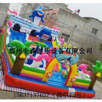 充气鲨鱼滑梯儿童充气滑梯 户外大型游乐设施儿童玩具
