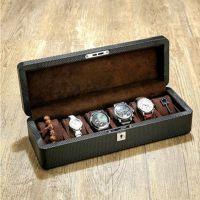 碳纤维皮质手表盒子木制表盒机械表展示盒收藏收纳盒 watch box