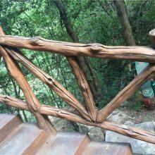 水泥艺术栏杆,户外环保栏杆,GRC预制仿木,德阳仿木厂家