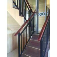 承德仿木纹靠墙扶手,Q235承德锌合金楼梯扶手,组装式楼梯栏杆,喷塑护窗围栏,热镀锌飘窗护栏