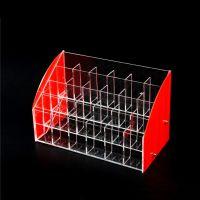 高档亚克力真彩中性笔架 眉笔彩笔展架有机玻璃全透明笔展示架