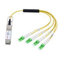 40G QSFP to 8x LC PSM AOC 有源光缆 易飞扬光通信企业 可定制