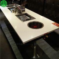 可以打火锅也可以吃烧烤的桌椅 同时烧烤火锅的桌子