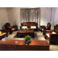 中山印尼黑酸枝红木沙发古典家具厂家_优质品牌