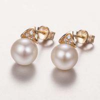 珍珠耳环空托 925纯银耳钉 韩版几何形耳饰配件 首饰厂家加工定作