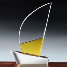 昆明赛区比赛奖杯,模特大赛奖杯制作,曲靖单位评选活动奖品,水晶帆叶奖牌制作