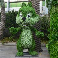 东莞紫萱工艺定做仿真植物雕塑 五色草雕 公园广场仿装饰景观