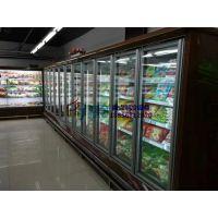 生鲜超市风幕柜,南平玻璃门立风柜,徽点冷冻饺子汤圆展示柜定做