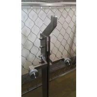 江苏泰州市天波幕墙生产定制不锈钢七字弯立柱幕墙配件