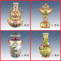 年终纪念礼品 高档纯手工陶瓷花瓶 新款康乾彩花瓶定制