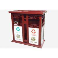 甘肃兰州优质垃圾桶_户外分类钢板果皮箱垃圾箱