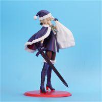 工厂定制厂家定制动漫卡通玩具 圣诞saber手办模型PVC材质高度约23cm