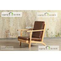 上海韩尔品牌家具 无锡WX-03咖啡厅实木桌椅 西餐厅桌子椅子定制