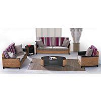 藤格格 9037 厂家批发新古典藤椅沙发竹藤椅藤木沙发茶几组合客厅藤家具真藤沙发