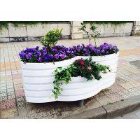 PVC微发泡2+1组合艺术花箱 道路隔离花箱市政防腐木花箱定制厂家