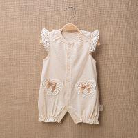 婴儿服装夏季无袖哈衣爬服彩棉女宝宝连体衣服新生儿童装一件代发