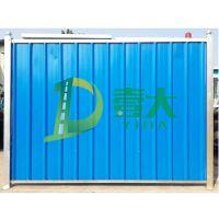 彩钢瓦施工围挡 铁皮瓦围挡 广州壹大交通专业生产PVC夹芯板围墙