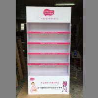 母婴用品陈列架 展会新品展示展柜2米高木板组装广告形象展柜批发