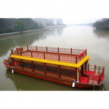 北京天津出售仿古画舫船 水上观光旅游船 特色餐饮船 玻璃钢游船