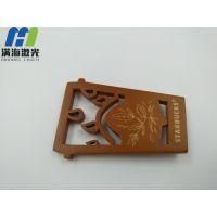 深圳龙岗木制品木板书签激光镭雕加工-满海激光雕刻